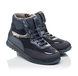 Детские демисезонные ботинки Woopy Fashion синие для мальчиков натуральная кожа и нубук размер 30-31 (4435) Фото 1