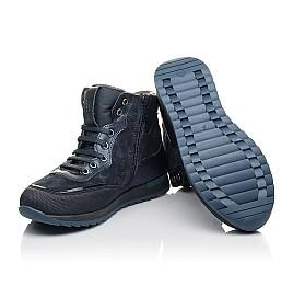 Детские демисезонные ботинки Woopy Fashion синие для мальчиков натуральная кожа и нубук размер 30-38 (4435) Фото 2