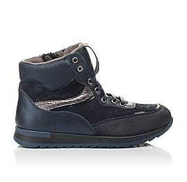 Детские демисезонные ботинки Woopy Fashion синие для мальчиков натуральная кожа и нубук размер 30-38 (4435) Фото 4