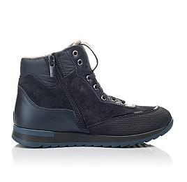 Детские демисезонные ботинки Woopy Fashion синие для мальчиков натуральная кожа и нубук размер 30-31 (4435) Фото 5