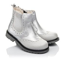 Детские демісезонні черевики Woopy Fashion серебряные для девочек натуральная кожа размер 24-36 (4436) Фото 1