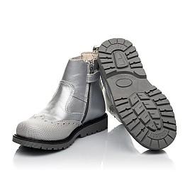 Детские демісезонні черевики Woopy Fashion серебряные для девочек натуральная кожа размер 24-36 (4436) Фото 2