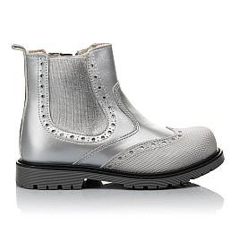 Детские демісезонні черевики Woopy Fashion серебряные для девочек натуральная кожа размер 24-36 (4436) Фото 4