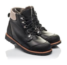 Детские зимові черевики Woopy Orthopedic черные для мальчиков натуральная кожа размер 33-38 (4437) Фото 1
