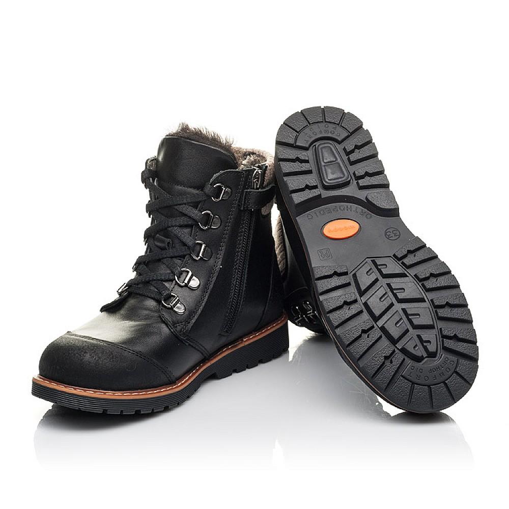 Детские зимние ботинки Woopy Orthopedic черные для мальчиков натуральная кожа размер 33-40 (4437) Фото 2