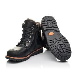 Детские зимові черевики Woopy Orthopedic черные для мальчиков натуральная кожа размер 33-38 (4437) Фото 2