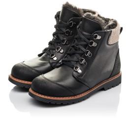 Детские зимові черевики Woopy Orthopedic черные для мальчиков натуральная кожа размер 33-38 (4437) Фото 3