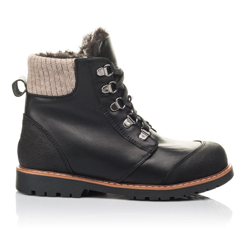 Детские зимние ботинки Woopy Orthopedic черные для мальчиков натуральная кожа размер 33-40 (4437) Фото 4
