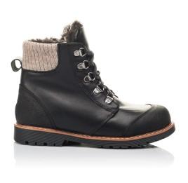 Детские зимові черевики Woopy Orthopedic черные для мальчиков натуральная кожа размер 33-38 (4437) Фото 4