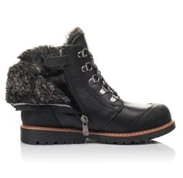 Детские зимові черевики Woopy Orthopedic черные для мальчиков натуральная кожа размер 33-38 (4437) Фото 5