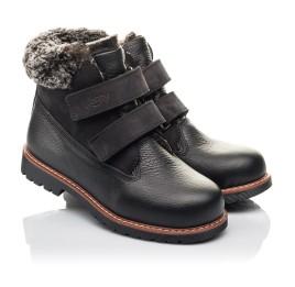 Детские зимние ботинки Woopy Fashion черные для мальчиков натуральная кожа размер 27-31 (4438) Фото 1