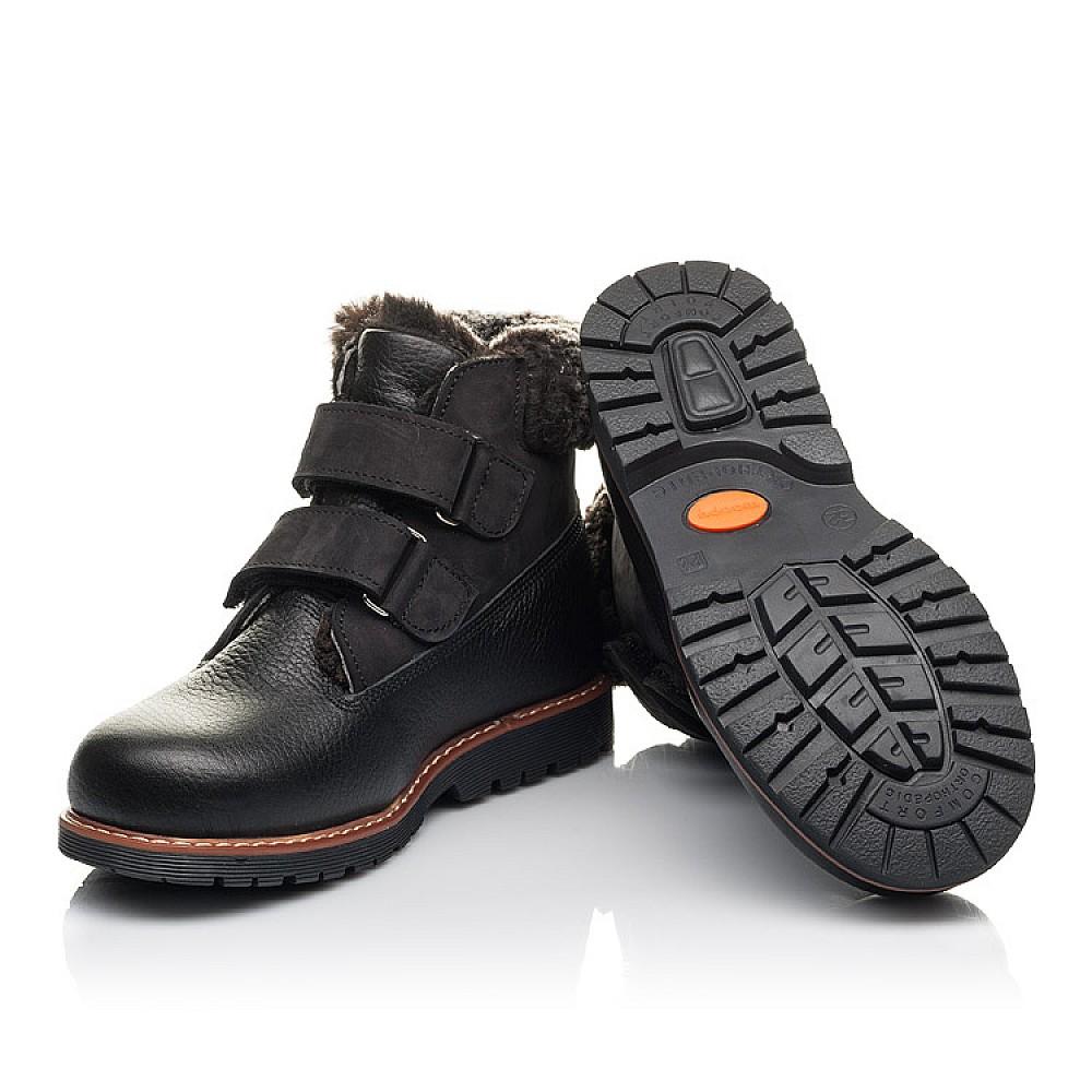 Детские зимние ботинки Woopy Fashion черные для мальчиков натуральная кожа размер 27-40 (4438) Фото 2