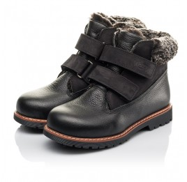 Детские зимние ботинки Woopy Fashion черные для мальчиков натуральная кожа размер 27-31 (4438) Фото 3