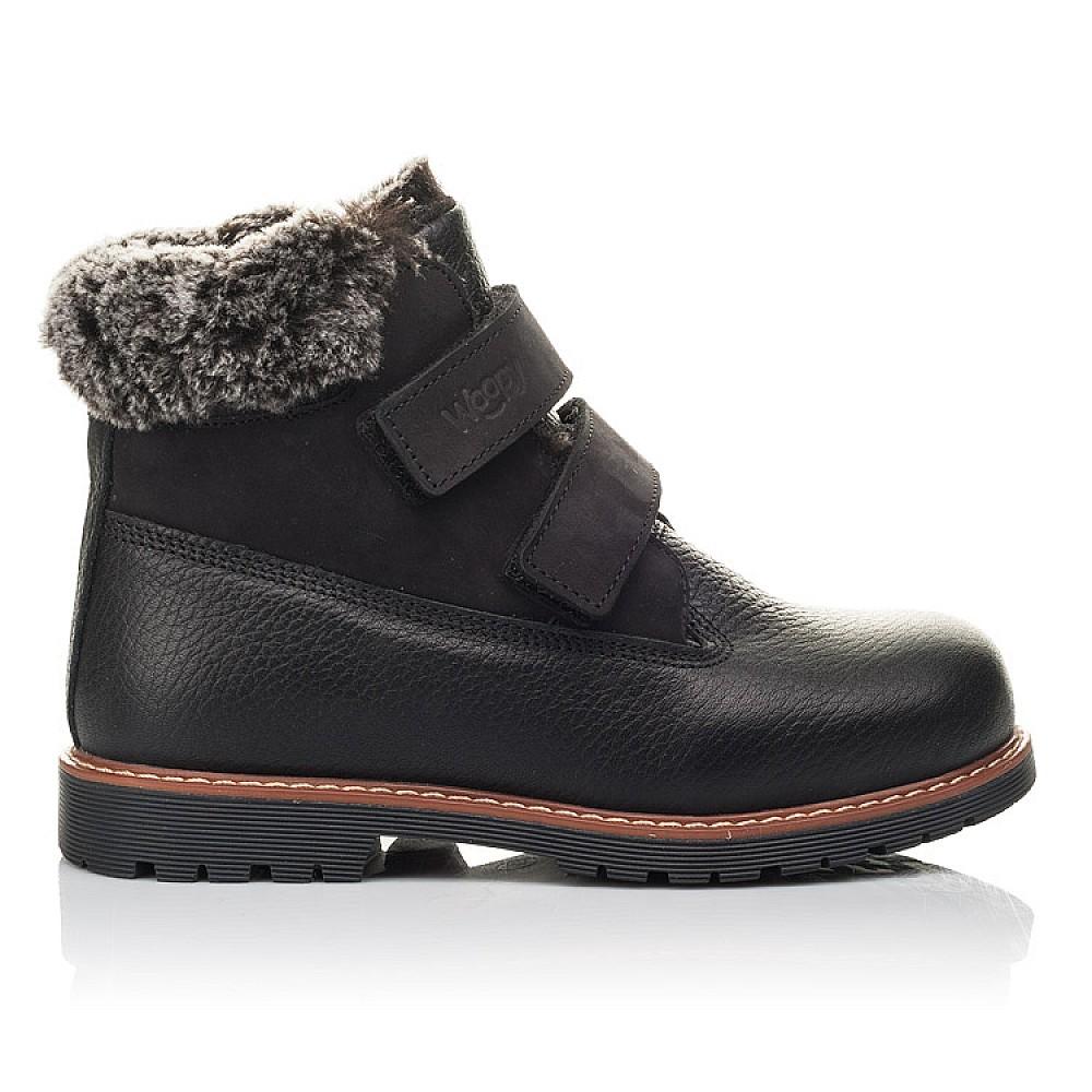 Детские зимние ботинки Woopy Fashion черные для мальчиков натуральная кожа размер 27-40 (4438) Фото 4