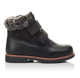 Детские зимові черевики Woopy Fashion черные для мальчиков натуральная кожа размер 27-28 (4438) Фото 4