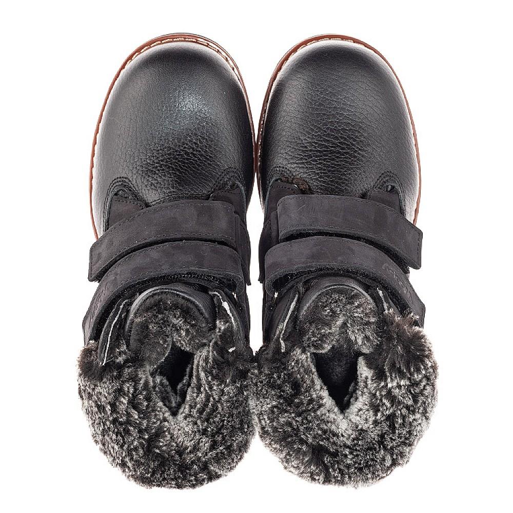 Детские зимние ботинки Woopy Fashion черные для мальчиков натуральная кожа размер 27-40 (4438) Фото 5