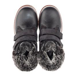 Детские зимние ботинки Woopy Fashion черные для мальчиков натуральная кожа размер 27-31 (4438) Фото 5