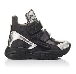 Детские демісезонні черевики Woopy Orthopedic черные для девочек натуральный нубук размер 28-28 (4440) Фото 4