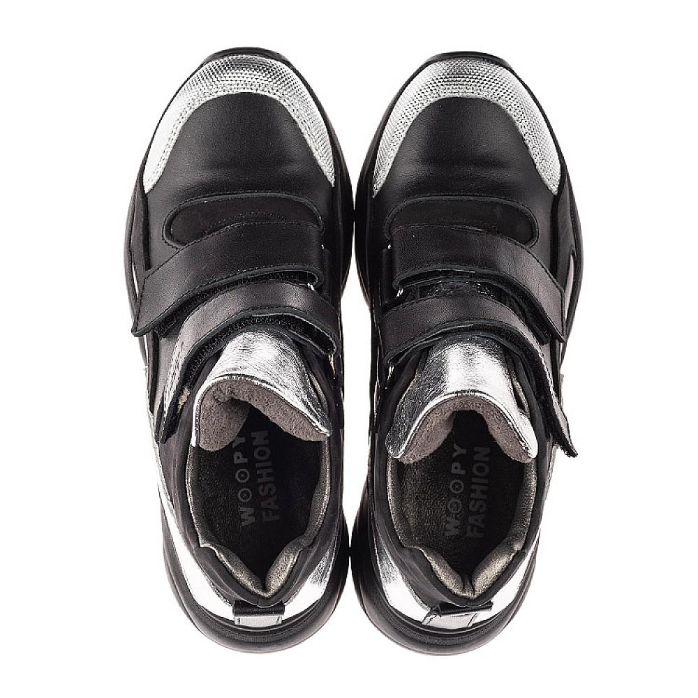 Детские демисезонные ботинки Woopy Orthopedic черные для девочек натуральный нубук размер 28-37 (4440) Фото 5
