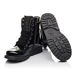 Детские демісезонні черевики Woopy Fashion черные для девочек натуральная лаковая кожа размер 29-38 (4441) Фото 2
