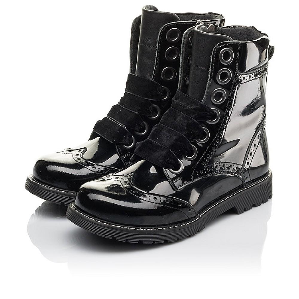 Детские демисезонные ботинки Woopy Fashion черные для девочек натуральная лаковая кожа размер 29-38 (4441) Фото 3