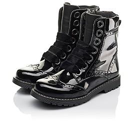 Детские демісезонні черевики Woopy Fashion черные для девочек натуральная лаковая кожа размер 29-38 (4441) Фото 3