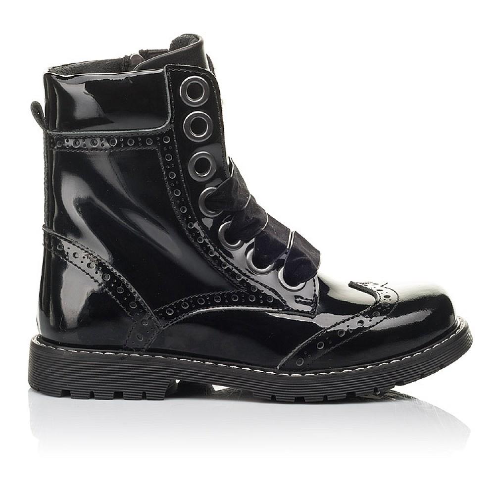 Детские демисезонные ботинки Woopy Fashion черные для девочек натуральная лаковая кожа размер 29-38 (4441) Фото 4