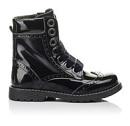 Детские демісезонні черевики Woopy Fashion черные для девочек натуральная лаковая кожа размер 29-38 (4441) Фото 4