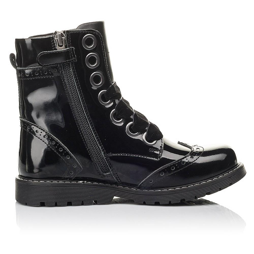 Детские демисезонные ботинки Woopy Fashion черные для девочек натуральная лаковая кожа размер 29-38 (4441) Фото 5