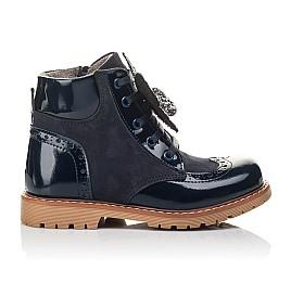 Детские демісезонні черевики Woopy Fashion синие для девочек лаковая кожа, нубук размер 21-32 (4442) Фото 4