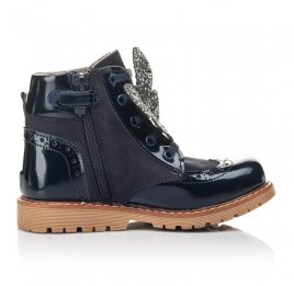 Детские демісезонні черевики Woopy Fashion синие для девочек лаковая кожа, нубук размер 21-32 (4442) Фото 5