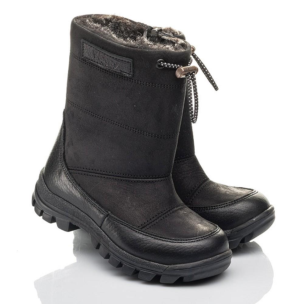 Детские зимние ботинки Woopy Fashion черные для мальчиков натуральный нубук размер 21-30 (4443) Фото 1
