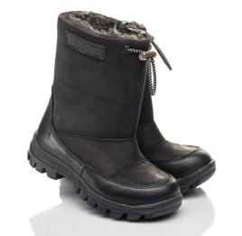 Детские зимові черевики Woopy Fashion черные для мальчиков натуральный нубук размер 21-30 (4443) Фото 1