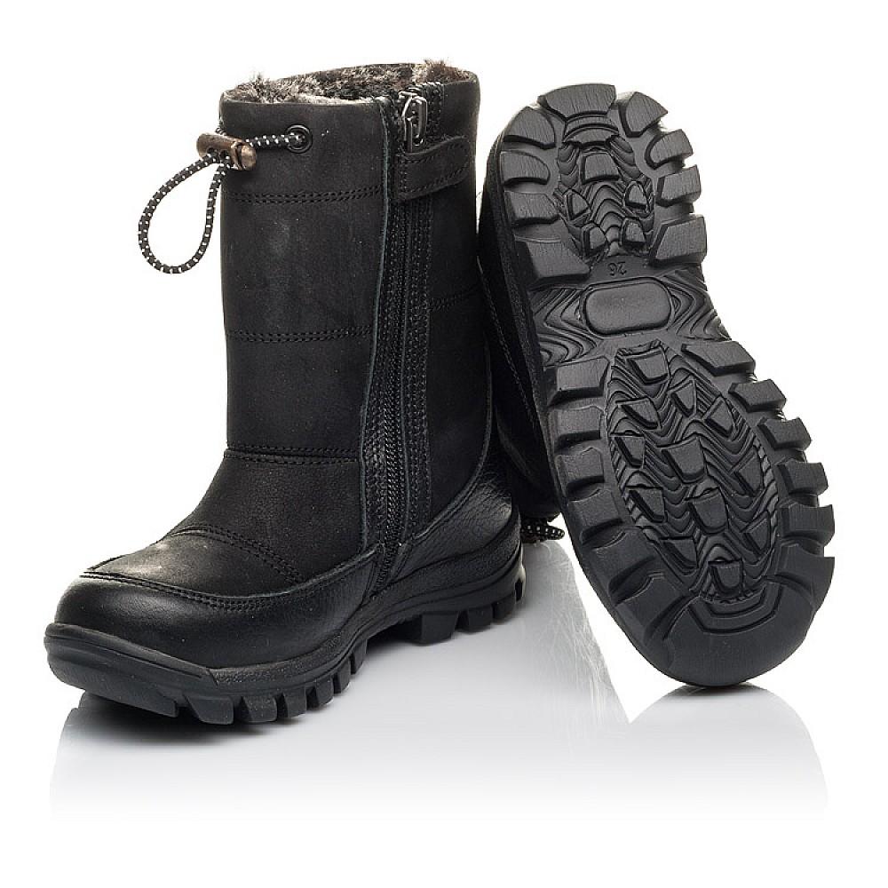 Детские зимние ботинки Woopy Fashion черные для мальчиков натуральный нубук размер 21-30 (4443) Фото 2