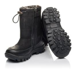 Детские зимові черевики Woopy Fashion черные для мальчиков натуральный нубук размер 21-30 (4443) Фото 2