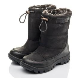 Детские зимние ботинки Woopy Fashion черные для мальчиков натуральный нубук размер 21-30 (4443) Фото 3