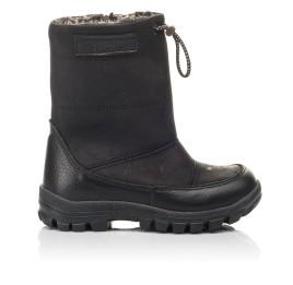 Детские зимние ботинки Woopy Fashion черные для мальчиков натуральный нубук размер 21-30 (4443) Фото 4