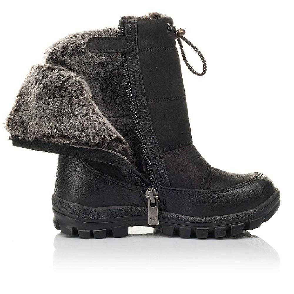 Детские зимние ботинки Woopy Fashion черные для мальчиков натуральный нубук размер 21-30 (4443) Фото 5
