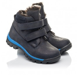 Детские зимові черевики Woopy Fashion синие для мальчиков натуральный нубук размер 21-40 (4444) Фото 1