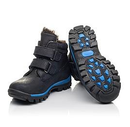 Детские зимние ботинки Woopy Fashion синие для мальчиков натуральный нубук размер 21-40 (4444) Фото 2