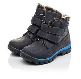 Детские зимові черевики Woopy Fashion синие для мальчиков натуральный нубук размер 21-33 (4444) Фото 3