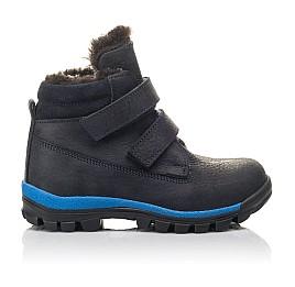 Детские зимние ботинки Woopy Fashion синие для мальчиков натуральный нубук размер 21-40 (4444) Фото 4