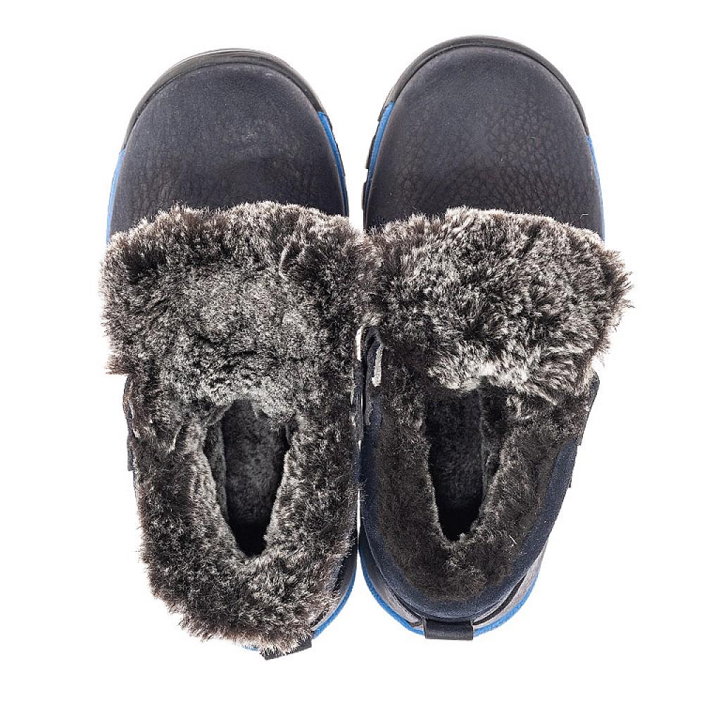 Детские зимние ботинки Woopy Fashion синие для мальчиков натуральный нубук размер 21-40 (4444) Фото 5