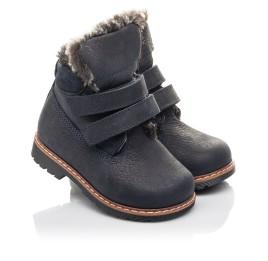 Детские зимние ботинки Woopy Fashion синие для мальчиков натуральный нубук размер 20-20 (4445) Фото 1