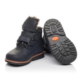 Детские зимние ботинки Woopy Fashion синие для мальчиков натуральный нубук размер 20-20 (4445) Фото 2