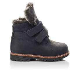 Детские зимние ботинки Woopy Fashion синие для мальчиков натуральный нубук размер 20-20 (4445) Фото 4