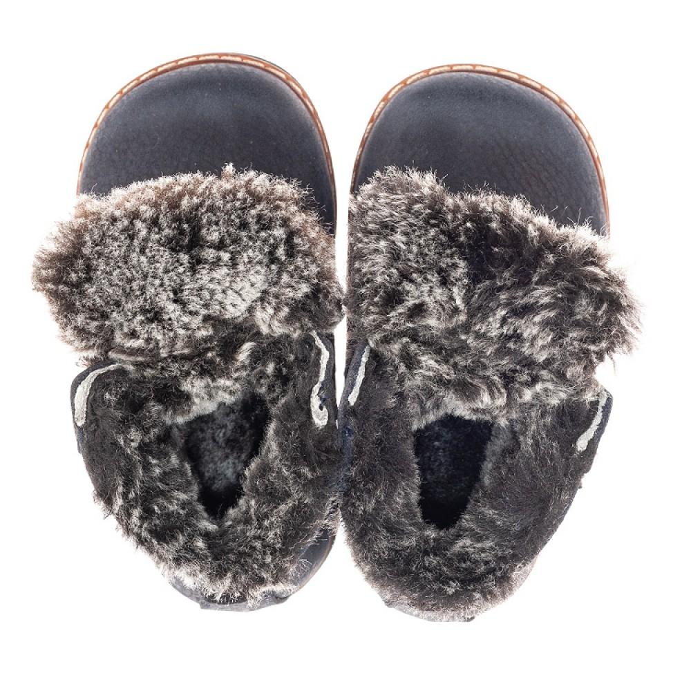 Детские зимние ботинки Woopy Fashion синие для мальчиков натуральный нубук размер 20-30 (4445) Фото 5