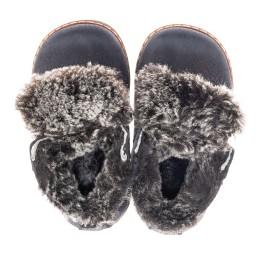 Детские зимние ботинки Woopy Fashion синие для мальчиков натуральный нубук размер 20-20 (4445) Фото 5