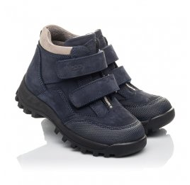 Детские демисезонные ботинки Woopy Fashion синий для мальчиков натуральная замша и искуственный материал размер 21-26 (4446) Фото 1