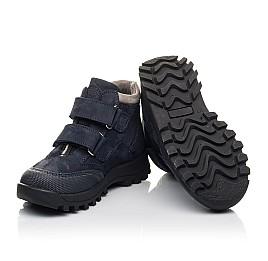 Детские демисезонные ботинки Woopy Fashion синий для мальчиков натуральная замша и искуственный материал размер 21-24 (4446) Фото 2